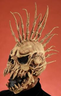Scary Spiked Skull Evil Skeleton Halloween Costume Mask