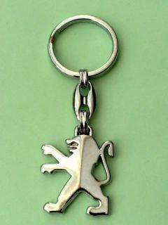 Peugeot Schlüsselanhänger 3D Logo Emblem Chrome Metall