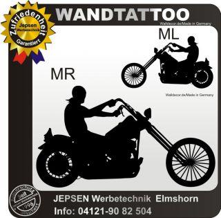 Motorrad WANDTATTOO Harley Aufkleber 70x38cm, Motiv 4