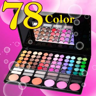 78 Color Eyeshadow Palette Eye Shadow Makeup Set + Bush
