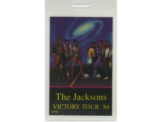 MICHAEL JACKSON  BACKSTAGE PASS VICTORY TOUR 84 PROMOTER LAM.  THE