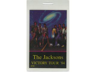 MICHAEL JACKSON : BACKSTAGE PASS VICTORY TOUR 84 PROMOTER LAM.  THE