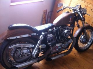 Harley Davidson Sportster Ironhead 71 Projekt Rust Kicker Right Shift