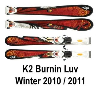 NEU K2 Ski All Mountain Burnin Luv Damenski mit Bindung Marker 11.0