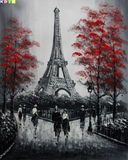 Modern Art Paris Eiffelturm b81006 40x50cm Olgemaelde Gemaelde Olbild