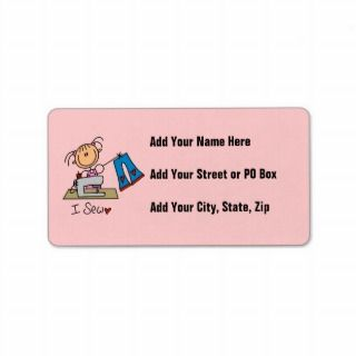 Sew Personalized Address Label
