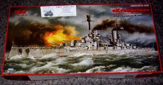 WWI Schiff german Battleship Kronprinz in 1350 ICM Neu