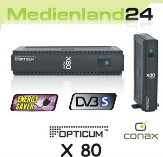 Opticum X80 FTA Digital Sat Receiver Conax Kartenleser B Ware