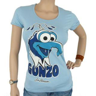Logoshirt   The Muppets Faces Gonzo Girlie Shirt, light blue