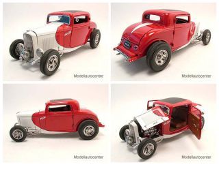 Ford Hot Rod Coupe SO CAL 1932 rot/weiß, Modellauto 118 / GMP