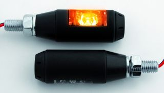 Power Blinker LED SIGARO, Alu, schwarz, E gepr.