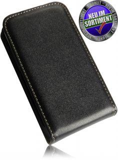 Nokia 305 Asha Premium Echt Leder Vertikaltasche Handytasche FlipCase