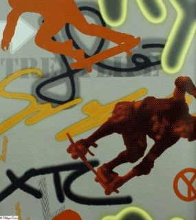 Graffiti Retro Kinder Jugend Tapete 05708 10 grau