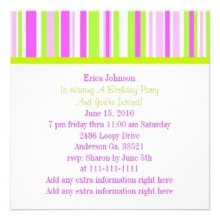 party invitation pretty rocking horse and stripes party invitation