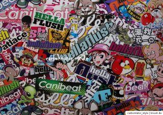 Stickerbombing Sticker Bomb Hellaflush Autofolie Klebefolie Top
