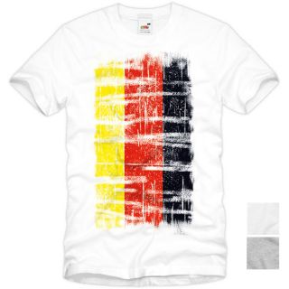 DEUTSCHLAND Vintage T Shirt National Flagge Schwarz Rot Gold Flag EM