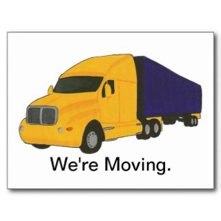 Were Moving, change of address postcards