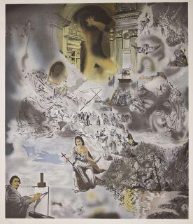 Salvador DALI (1904 1989) Künstlervision, Offsetdruck, signiert, 183