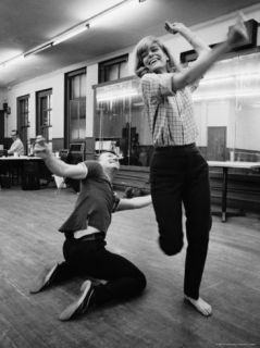 Actress Melina Mercouri Practicing a Dance Number for the Play Illya Darling Premium Photographic Print by Henry Groskinsky