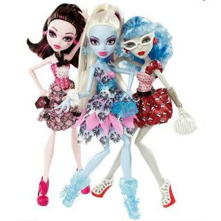 Monster High 3er Puppen Set   X4482 Draculaura, Abbey Bominable