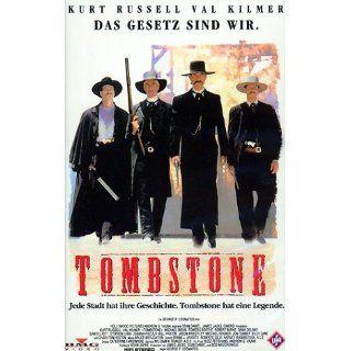 Tombstone [VHS] Kurt Russell, Val Kilmer, Michael Biehn, Bruce