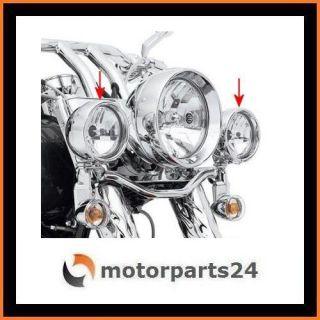 Harley Davidson Zusatz Scheinwerfer Zierringe Lampenringe 69622 99B