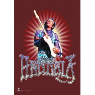 Official Merchandise Band Posterfahne   Jimi Hendrix   Red