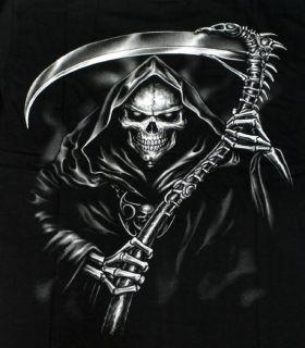 BIKER T SHIRT SENSENMANN SKULL DEATH SCHWARZ M L XL XXL