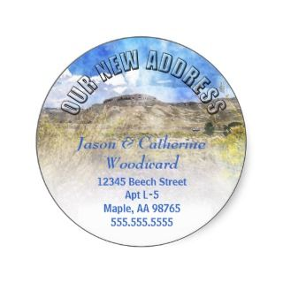 Weve moved Change of Address Mountain Scene Stickers