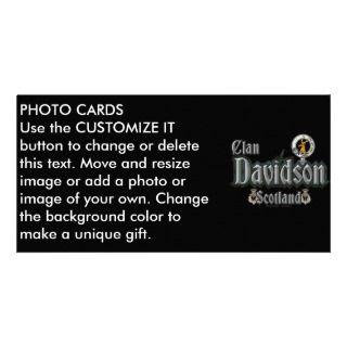 Tartán del clan de Davidson Tarjetas Personales Con Fotos de