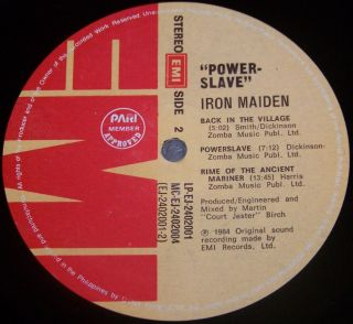 Iron Maiden   LP   Powerslave   Philippines   EMI EJ 2402001