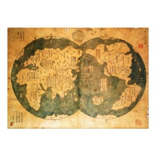 1418 Chinese World Map by Gavin Menzies Announcements