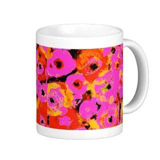 Pink Floral Coffee Mug