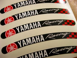 10x Yamaha Racing Motorrad Felgen Aufkleber Rim Sticker