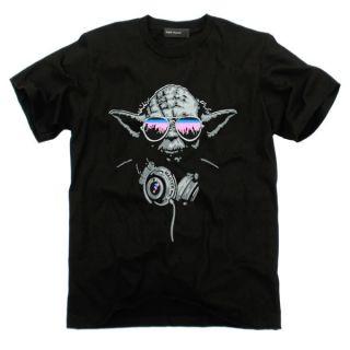 DJ MASTER YODA Star Wars GoaTrance Indie Skater T Shirt