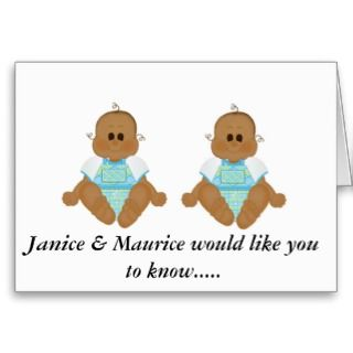 Cards, Note Cards and African American Baby Greeting Card Templates