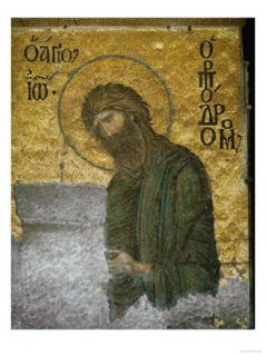 Saint John the Baptist from the Deesis in the North Gallery, Byzantine Mosaic, 12th Century Giclee Print