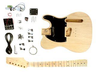 Gitarre Selber Bauen Bausatz Tele Stil Unfertig Einzelteile Ahorn