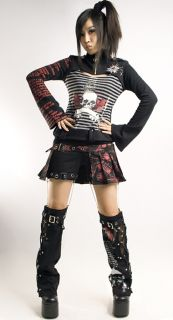 Visual Punk Rave Gothic Kera Skull Lolita Dolly cosplay rock coat