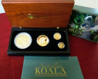 KOALA 2008 Gold Satz 121 A$ Four Coin Set PP / proof nur 150 Sets