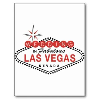 Fabulous Las Vegas Wedding Template Customizable Postcards