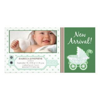TBA} Hospital ID Tag Baby Birth Announcement Custom Photo Card