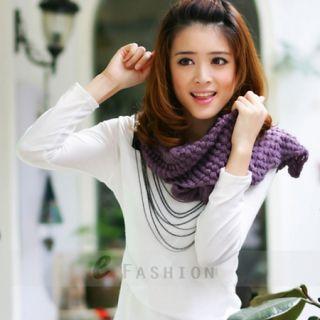 Schal Latz einfarbig Mais Muster Damen Mode Winter Mohair NEU 122 0093