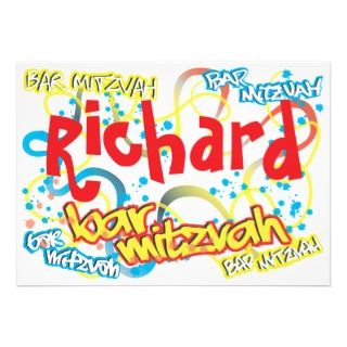 Graffiti Bar Mitzvah Invitation