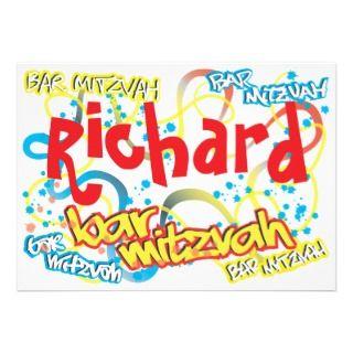 Graffiti Bar Mitzvah Invitation