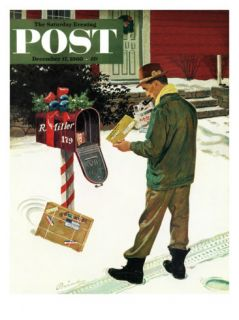 Merry Christmas from the IRS, Saturday Evening Post Cover, December 17, 1960 Giclee Print by Ben Kimberly Prins