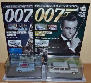 JAMES BOND   MODELLAUTO   COLLECTION ( Nr.128 und 129 ) TOP