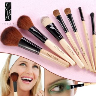 Fräulein3°8 Pro 7 Pcs Wooden Handle Sable Makeup Cosmetic Brushes