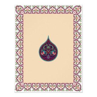 Hindu Muslim Arabic Wedding or Mehndi Invitation 3