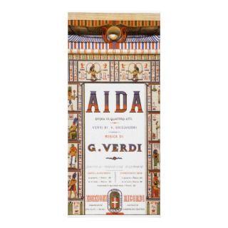 Vintage Music, Egyptian Aida Opera by Verdi Custom Rack Cards